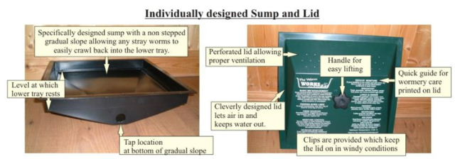 detailed view of sump and lid